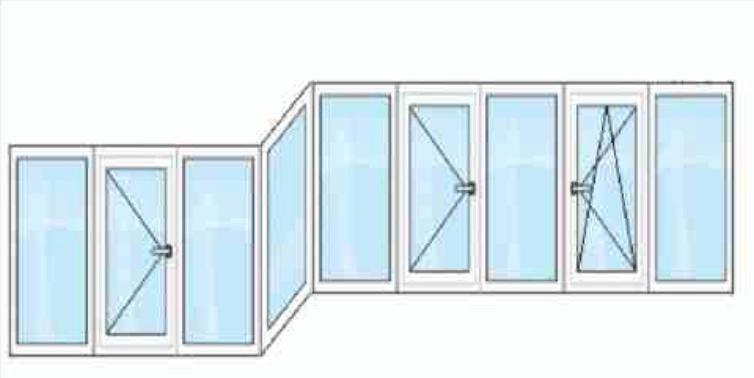окна на балкон зигзагом