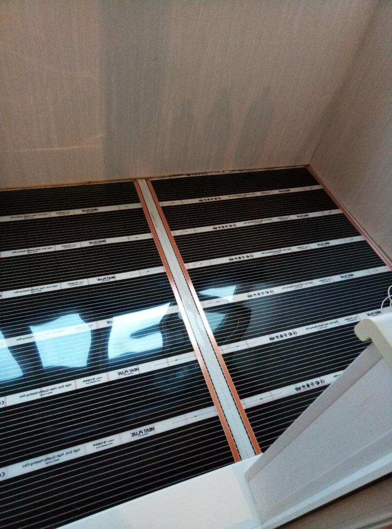 внутренняя отделка балкона с теплым полом