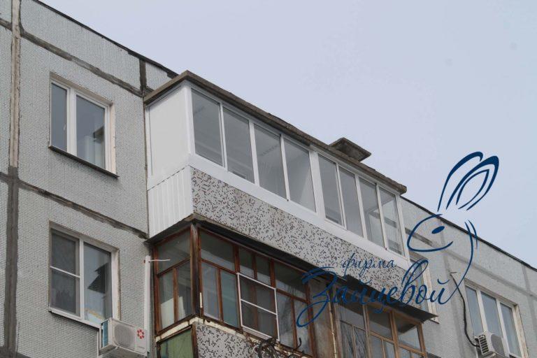 Балконая рама 3,5 метра с боковиной