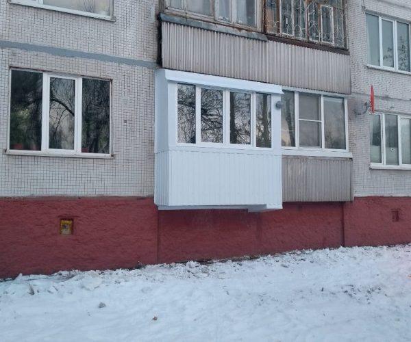 Отделка снаружи - балкон 2метра