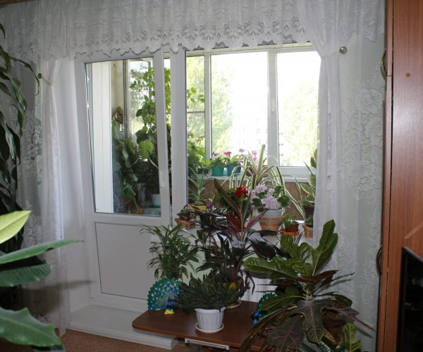 Балконный блок в кирпичном доме с отделкой