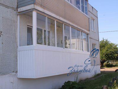 Отделка снаружи профлистом - балкон 6 метров